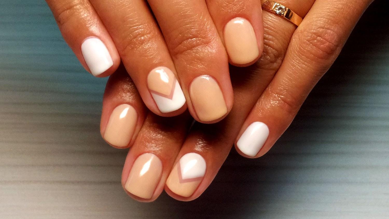 Простой и красивый дизайн ногтей гель